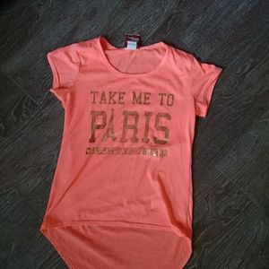 Other - Girl's coral high\low shirt Paris 14